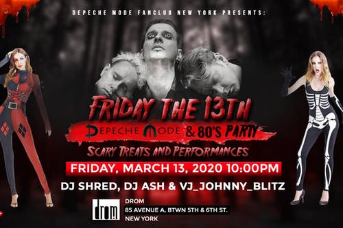 Friday the 13th - Depeche Mode & 80's Party