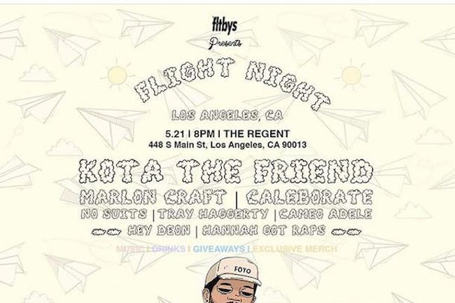 Fltbys X SHP Present Flight Night: Kota the Friend (Rescheduled from 05/21)