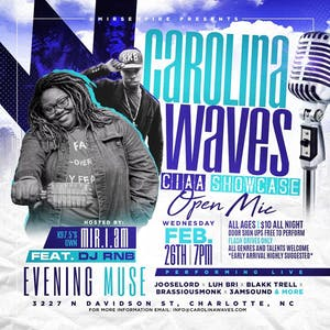 Carolina Waves CI-AA Showcase & Open Mic - SOLD OUT