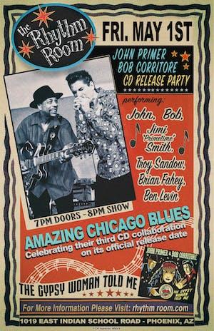 JOHN PRIMER / BOB CORRITORE CD RELEASE PARTY