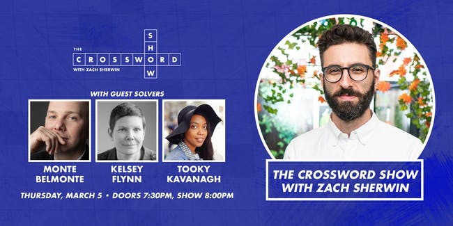 The Crossword Show w. Zach Sherwin  at The Parlor Room