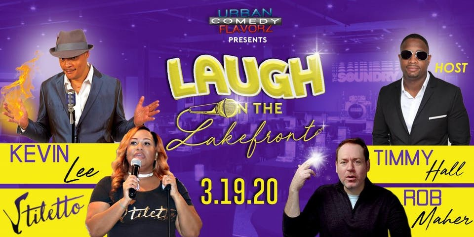Laugh on the Lakefront featuring Rob Maher, Kevin Lee & Stiletto