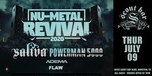 NU-METAL REVIVAL featuring SALIVA - SHOW HAS BEEN POSTPONED