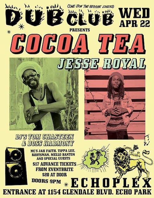 POSTPONED: Dub Club with Cocoa Tea, Jesse Royal, & Dub Club DJs