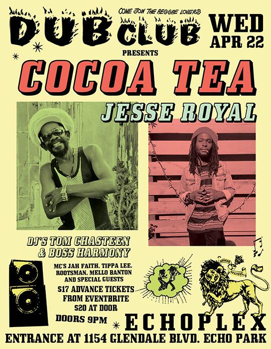 POSTPONED: Dub Club with Cocoa Tea, Jesse Royal, & Dub Club DJs