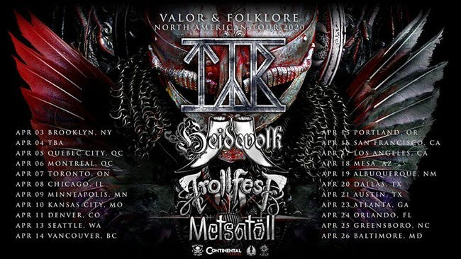 The Valor & Folklore North America Tour