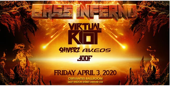 POSTPONED - BASS INFERNO ft. Virtual Riot, Shiverz, Akeos + More
