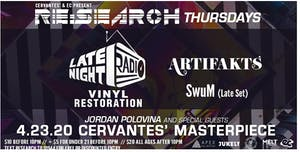 POSTPONED - RE:Search ft. Late Night Radio  w/ Artifakts, Jordan Polovina