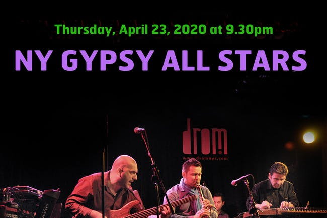 [CANCELLED] NY Gypsy All-Stars