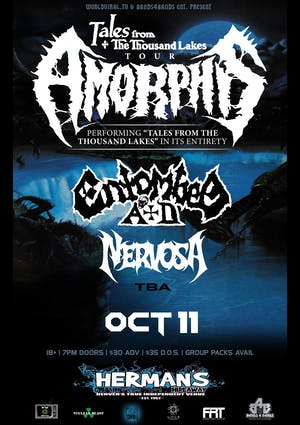 AMORPHIS w/ Entombed A.D. | Nervosa
