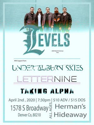 (canceled) LEVELS w/ UNDER AUBURN | LETTER NINE | TAKING ALPHA