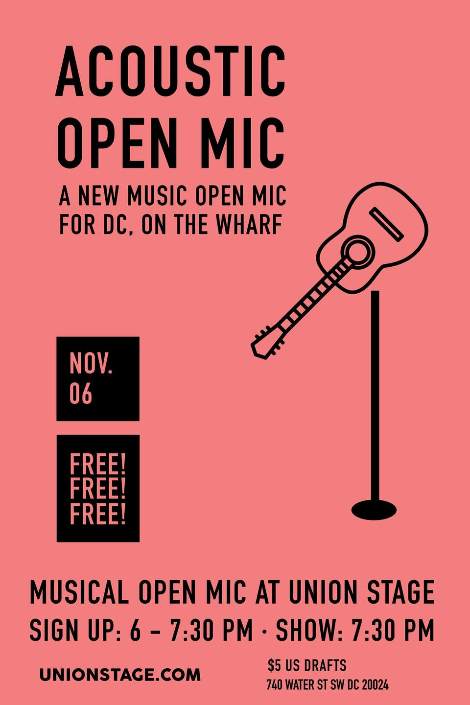 POSTPONED   Free Acoustic Open Mic Hosted By Rachel Levitin