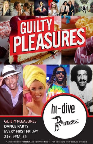CANCELED - Guilty Pleasures ** Dance Party
