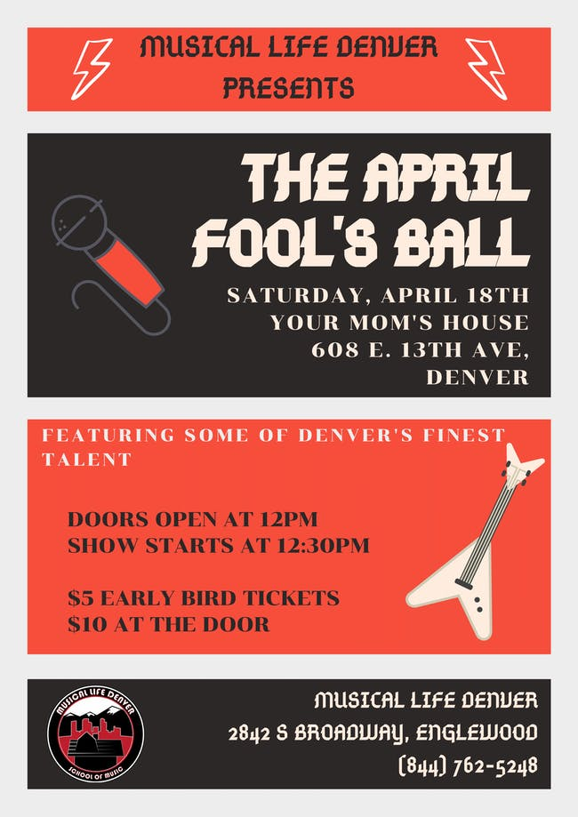 Musical Life Denver Presents: April Fool's Ball at YMH