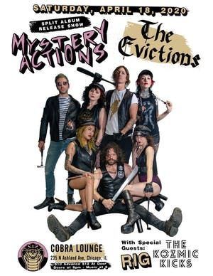 "Mystery Actions/The Evictions 7"" Split Release Show"
