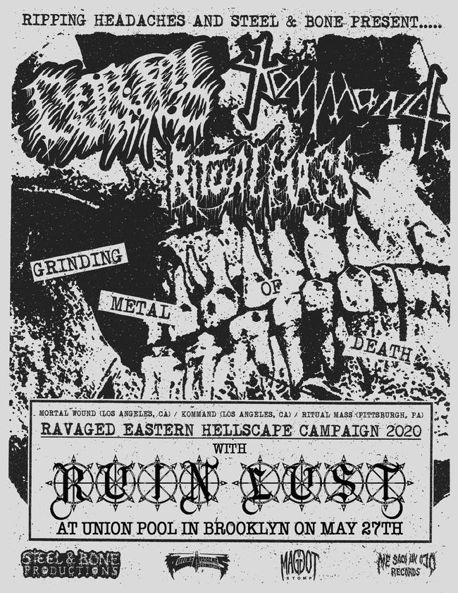Ruin Lust / Mortal Wound / Kommand / Ritual Mass at Union Pool