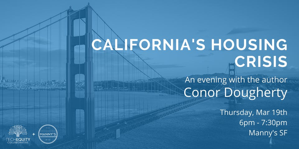 POSTPONED: California's Housing Crisis: An Evening with Conor Dougherty