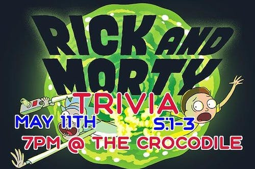 Rick and Morty Trivia. S:1-3 @ The Back Bar