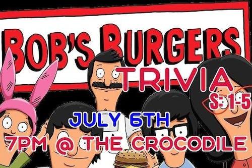 Bob's Burgers Trivia Night S:1-5 @ The Back Bar