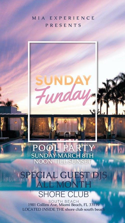 Sunday Funday at Shore Club Miami 3/29