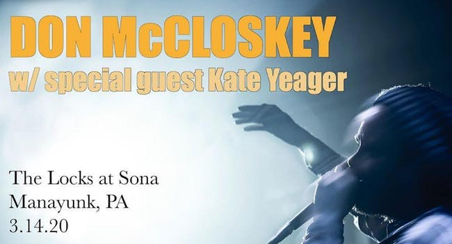 Don McCloskey with special guest Kate Yaeger