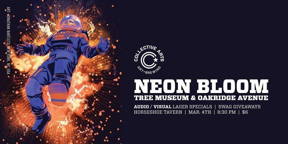 Neon Bloom, Tree Museum, Oakridge Avenue