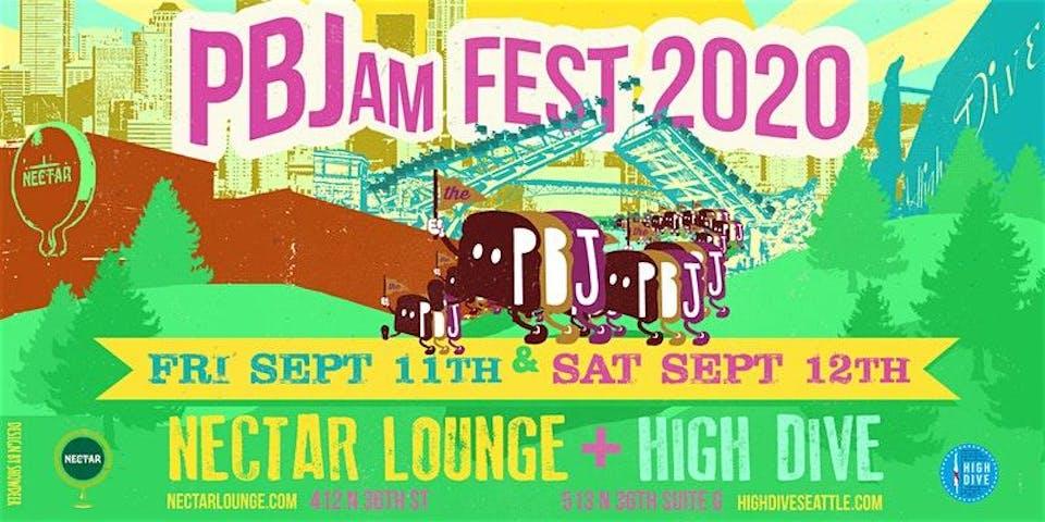 PBJam FEST 2020!! (2-day event at Nectar + High Dive)