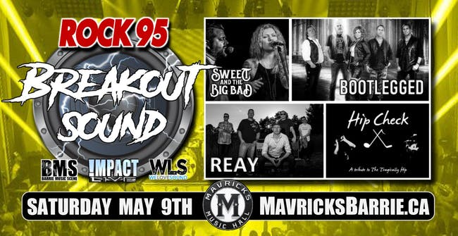 ROCK 95 BREAKOUT SOUND: Bootlegged, Reay, Sweet & The Big Bad + HIP CHECK