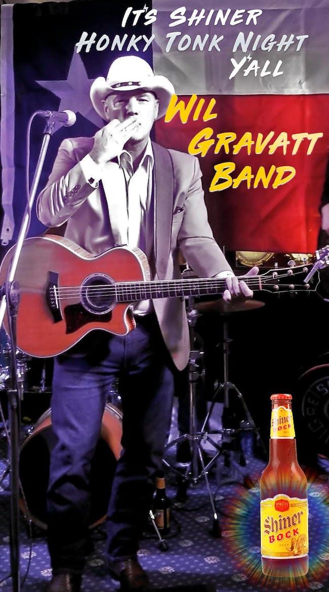 POSTPONED  Shiner Honky Tonk Night with Wil Gravatt