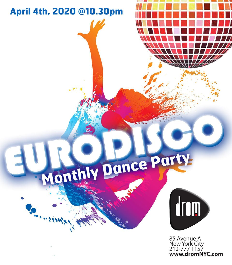 [CANCELLED] Eurodisco: Monthly Dance Party