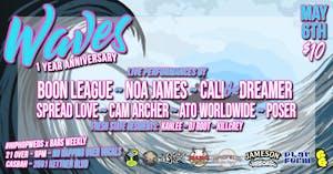 Waves 1 Year - Boon League, Noa James, Cali the Dreamer, Spread Love