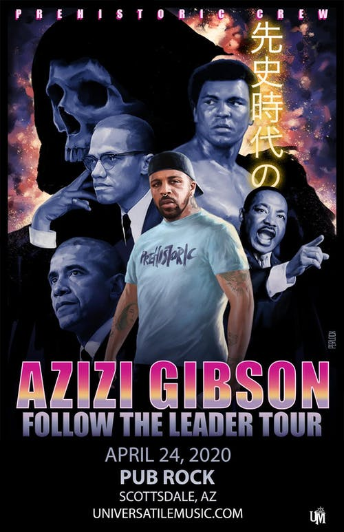 AZIZI GIBSON - Follow The Leader Tour - at Pub Rock Live