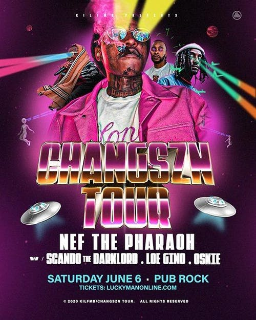 NEF THE PHARAOH at Pub Rock Live