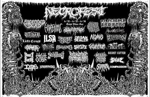 Necrofest '20, Day 3: Secret Cutter, No/Mas, Organ Dealer, & more