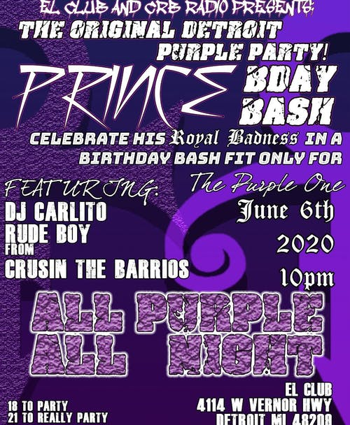 The Original Detroit Purple Party – Prince Bday Bash