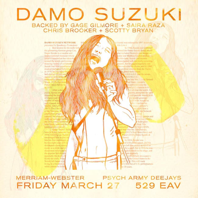 Damo Suzuki's Network, Merriam-Webster, Psych Army Deejays