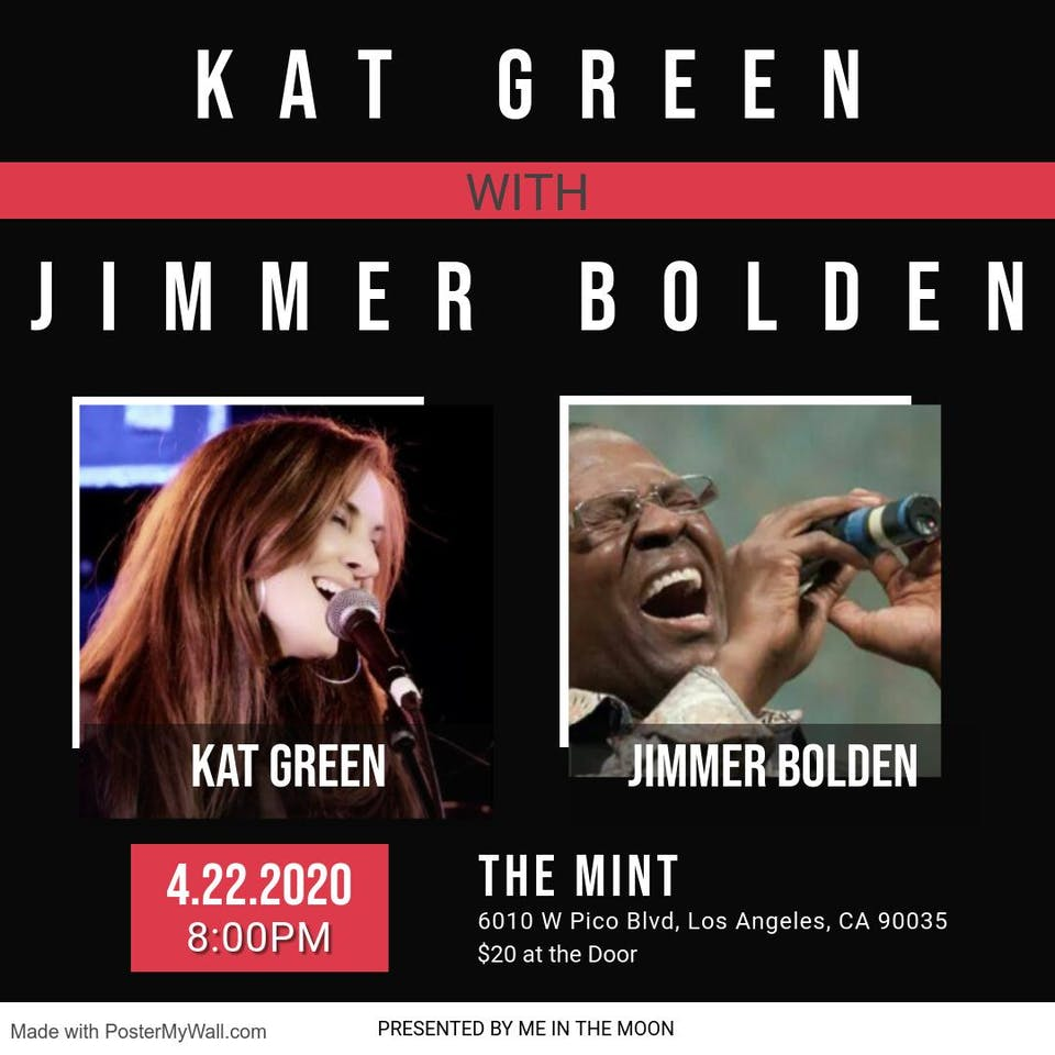 Kat Green With Special Guest Jimmer Bolden