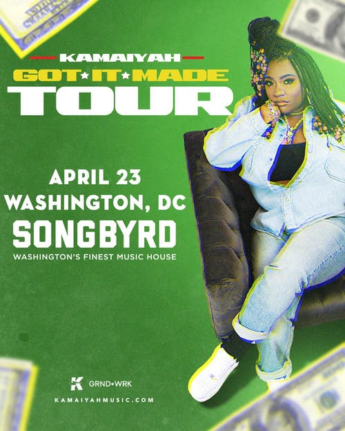POSTPONED | Songbyrd & Union Stage Present: Kamaiyah - Got It Made Tour