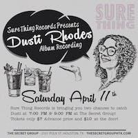 Dusti Rhodes Album Recording! Second Showing
