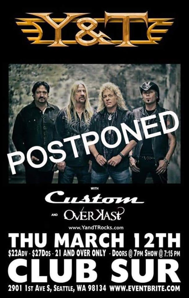 Y & T / Custom / *****Show Postponed to later date