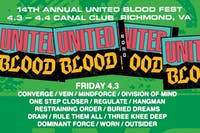 United Blood Festival 14 Fri and Sat April 9 and 10, 2021