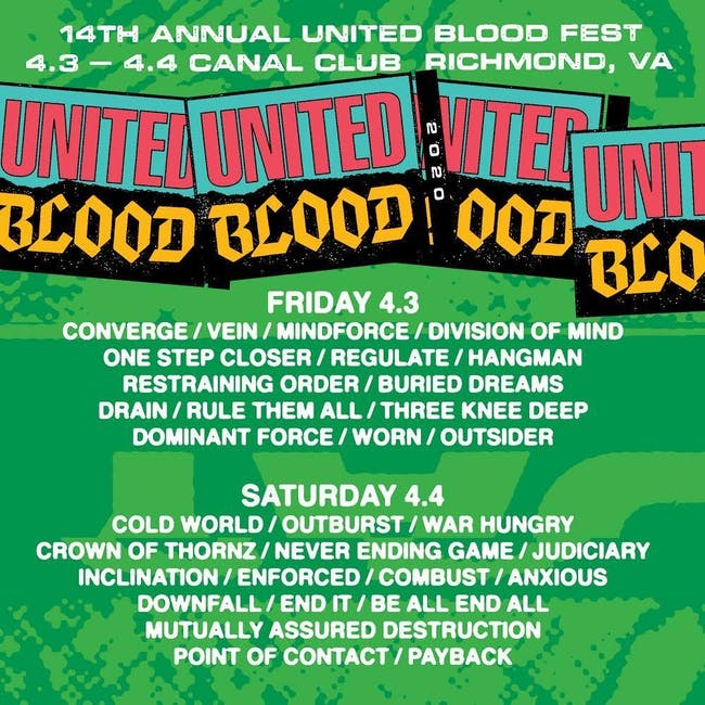 United Blood Festival 14 Fri and Sat September 25th and 26th
