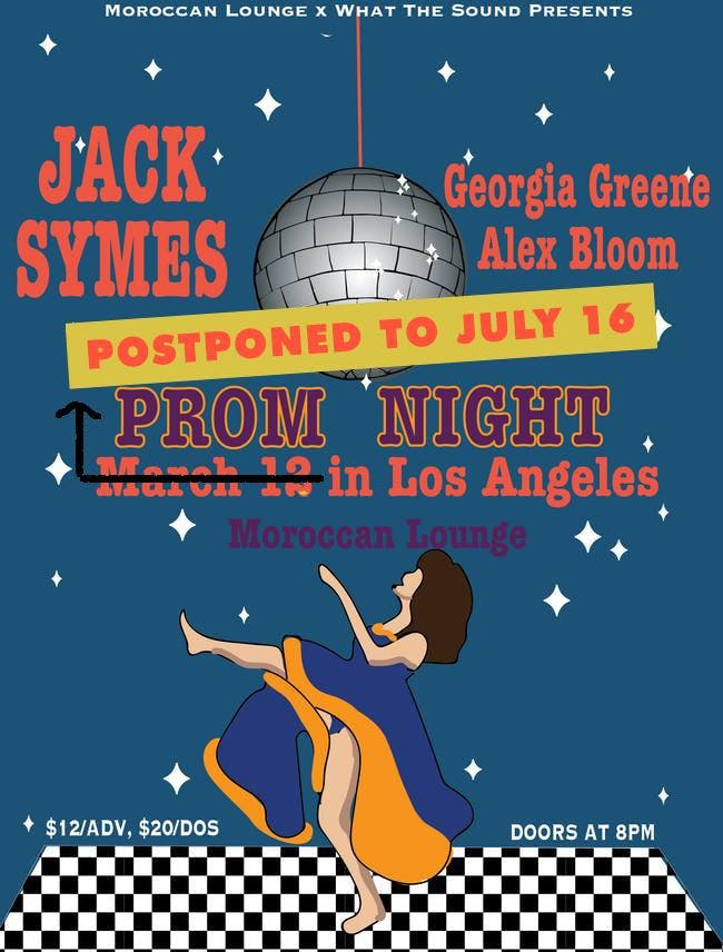 [POSTPONED TO JULY 16] Prom Night with Jack Symes