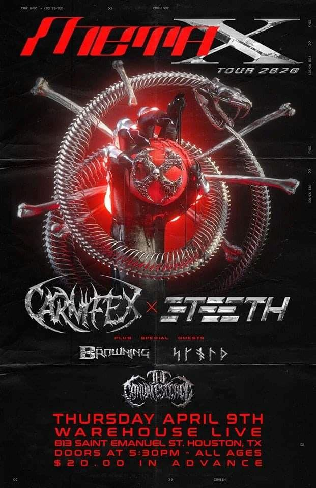 META X TOUR: CARNIFEX & 3TEETH, SKOLD, THE BROWNING