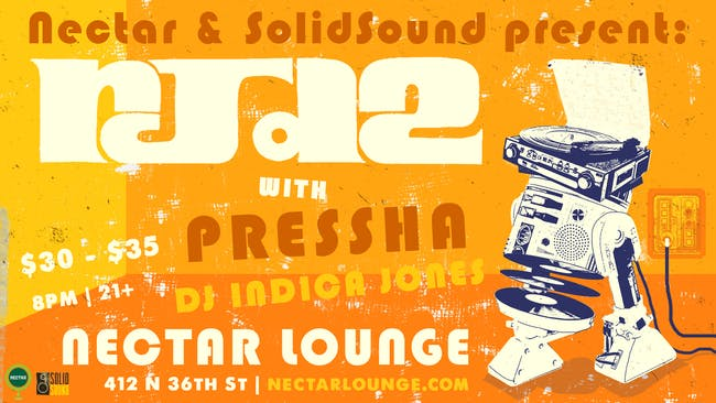 Rescheduled: RJD2 with Pressha, DJ Indica Jones