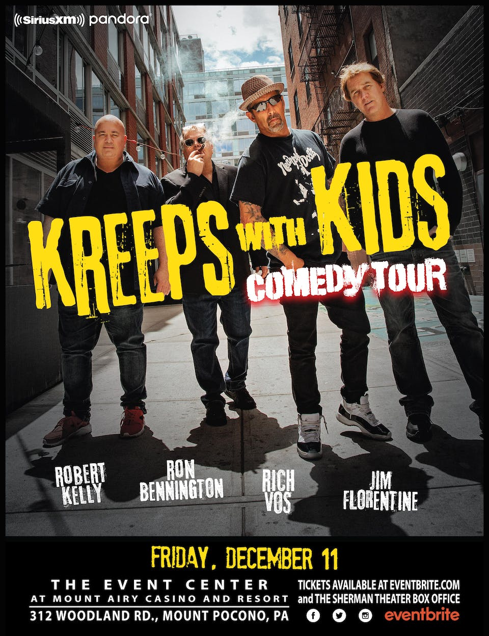 POSTPONED to DEC 11: Kreeps With Kids - Comedy Tour