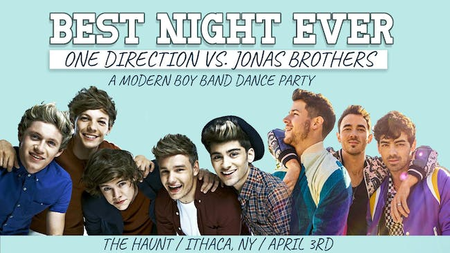 Best Night Ever: One Direction vs. Jonas Brothers - POSTPONED to October 10