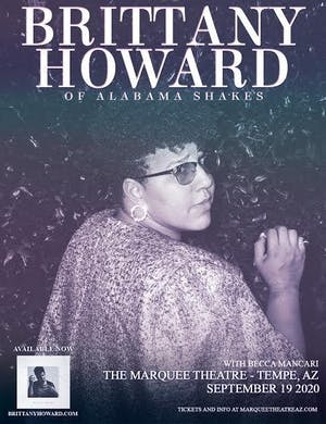 MOVED TO MARQUEE THEATRE - Brittany Howard of Alabama Shakes
