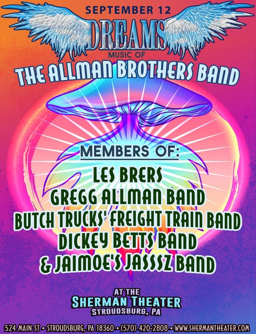 POSTPONED to SEPT 12: Dreams - the Music of the Allman Brothers Band