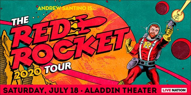 SHOW POSTPONED to 7/18/20: Andrew Santino: The Red Rocket Tour